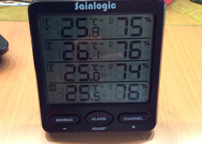 sainlogic r funk thermometer hygrometer wetterstationen mit 3 innen au en mias blog 273. Black Bedroom Furniture Sets. Home Design Ideas